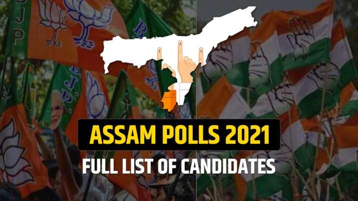 assam polls list of candidates BJP Congress AIUDF
