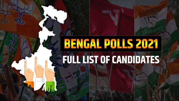 Bengal Polls 2021, full list of candidates bengal