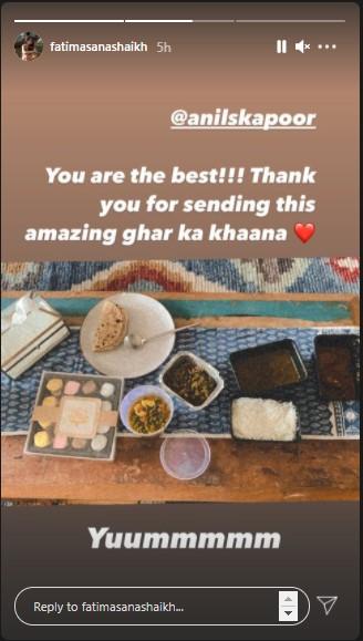 India Tv - Instagram story by Fatima Sana Shaikh