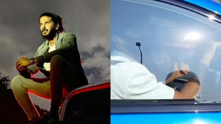 Dulquer Salmaan stopped by police for driving on wrong side, asked to return | WATCH
