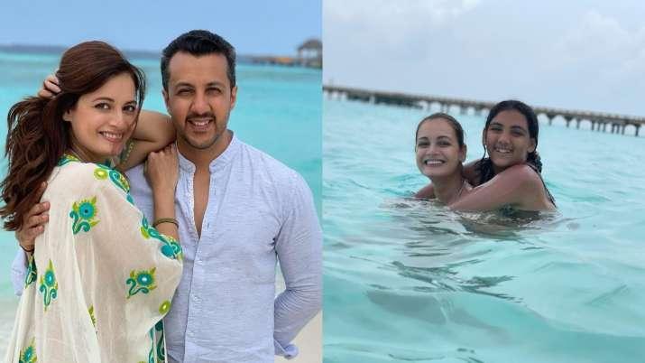 Dia Mirza making 'really special memories' husband Vaibhav Rekhi, stepdaughter Samaira in Maldives  