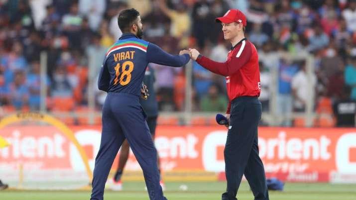 Virat Kohli and Eoin Morgan