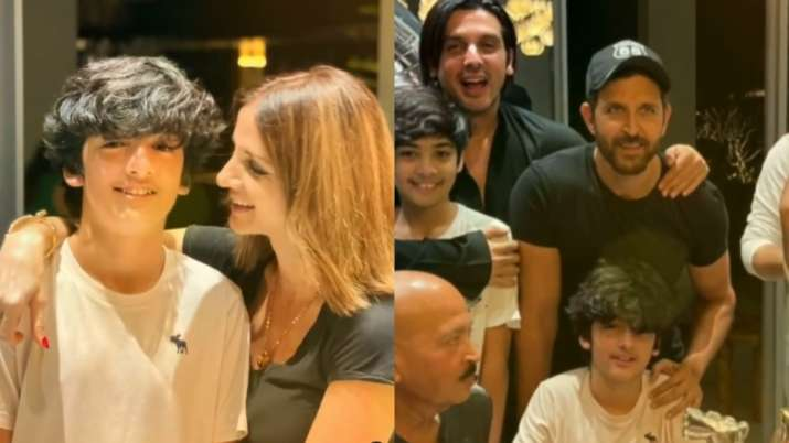 Hrithik Roshan, Sussanne Khan celebrate son Hrehaan's 15th birthday together | PICS, VIDEOS