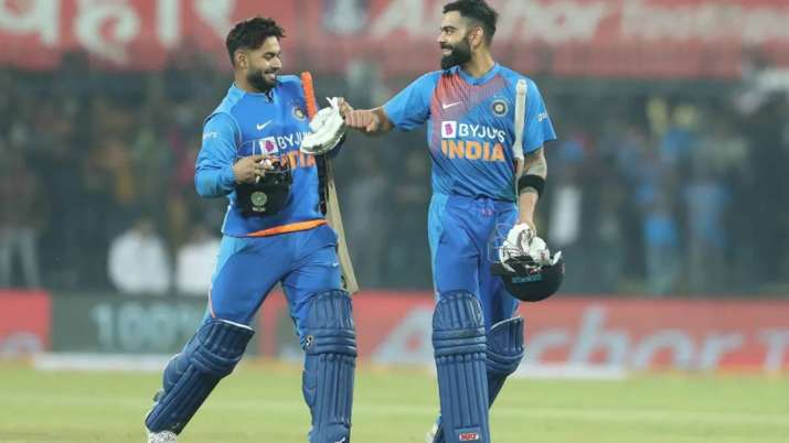 Rishabh Pant and Virat Kohli