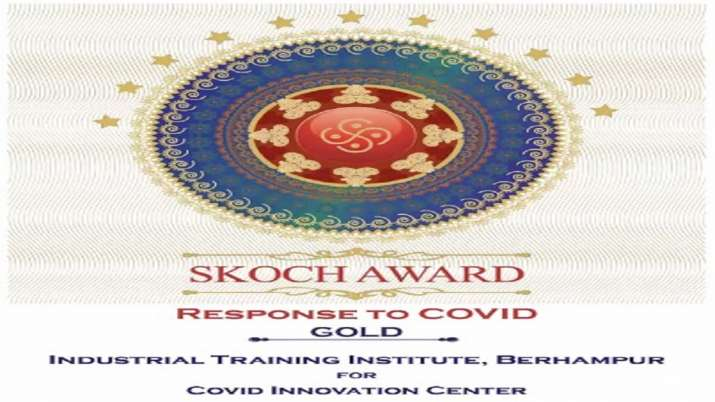 ITI Berhampur awarded Gold Medal at 72nd SKOCH summit for developing innovative products to fight Covid