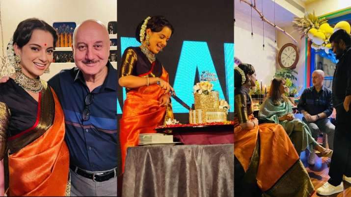 A look into Kangana Ranaut's 34th birthday celebration with Anupam Kher, Ekta Kapoor & others