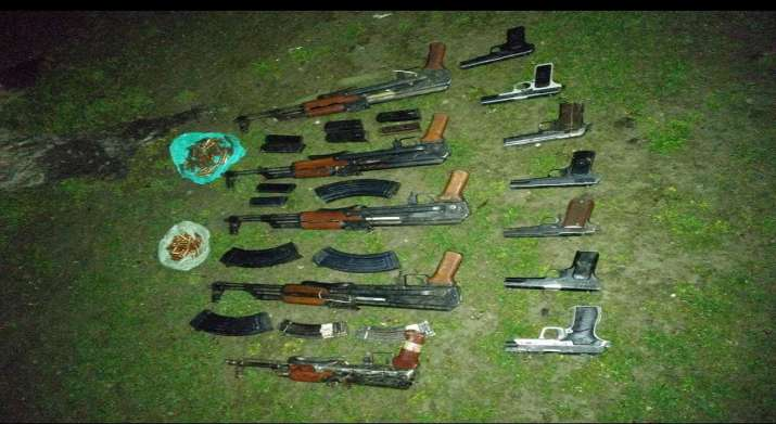 J&K: Huge cache of arms, ammunition seized in Kupwara district