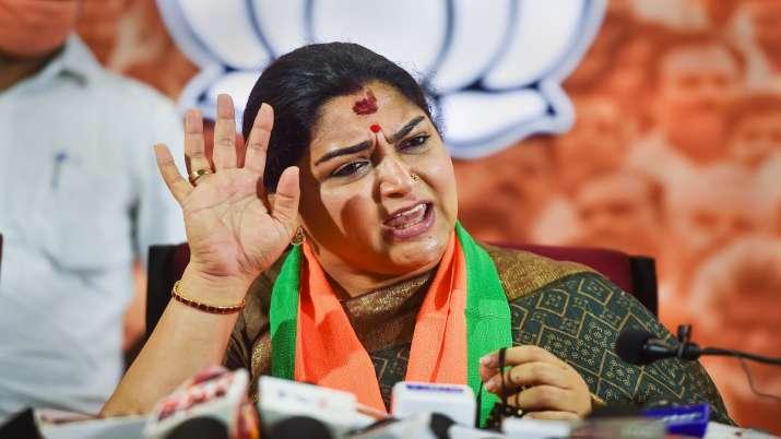 Khushbu Sundar gets BJP ticket as party finalises 18