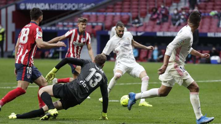 Atlético Madrid Title Pursuit Stalled By Late Real Madrid Equaliser Football News India Tv