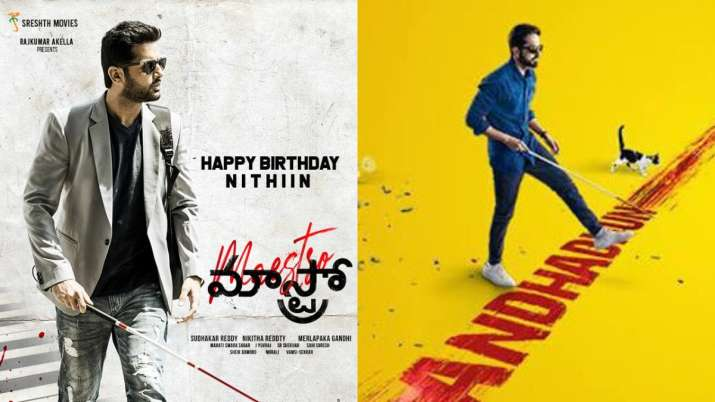 Nithiin's first look from Andhadhun Telugu remake 'Maestro' OUT on birthday