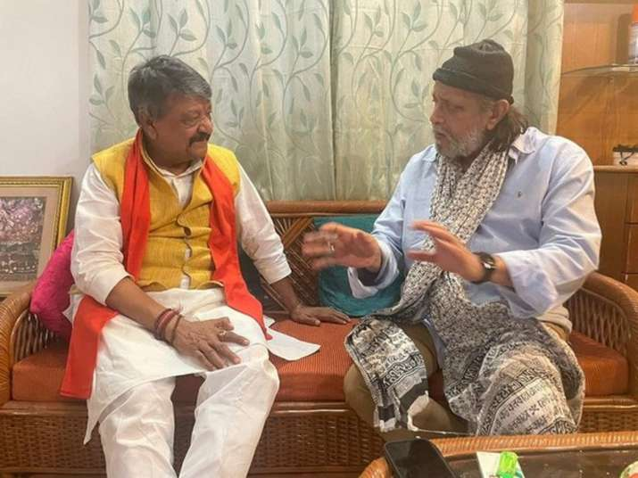 Bengal Polls 2021: BJP's Kailash Vijayvargiya meets actor Mithun Chakraborty