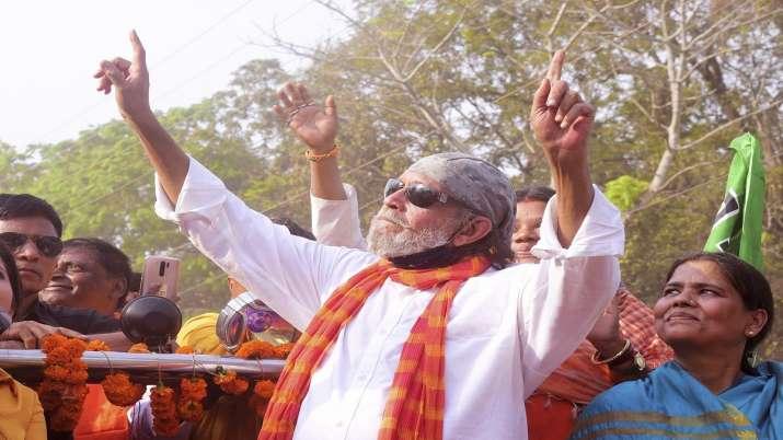 Veteran actor and BJP leader Mithun Chakraborty during a