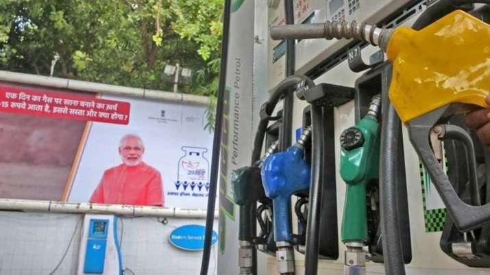 modi posters at petrol pumps