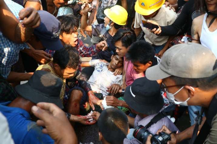 Martial law imposed in parts of Myanmar city as deaths rise