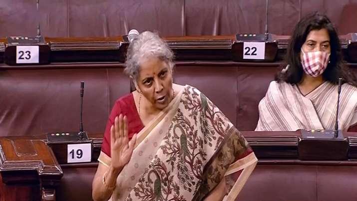 Union Finance Minister Nirmala Sitharaman speaks in the