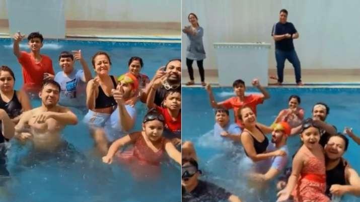 Watch: Neha Kakkar, Rohanpreet's pre Holi fun with Tony Kakkar and family