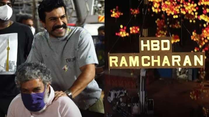 Ram Charan gets emotional as RRR team surprises him with grand birthday celebration   Video