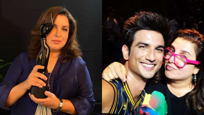 66th Filmfare Awards: Farah Khan remembers Sushant Singh Rajput as she wins Filmfare for Dil Bechara