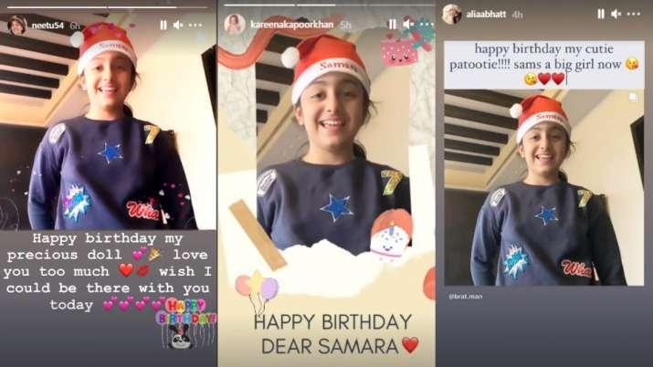 India Tv - Alia Bhatt, Kareena Kapoor Khan's cute birthday wishes for Samara