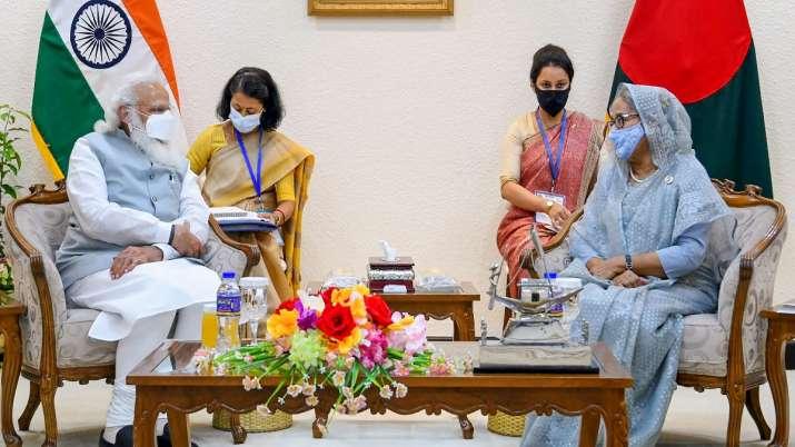 PM Modi, Sheikh Hasina, India Bangladesh new train