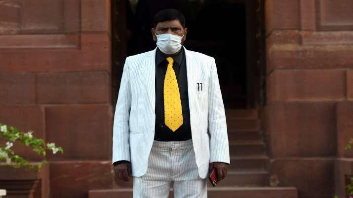 Rajya Sabha MP Ramdas Athawale at Parliament, during the