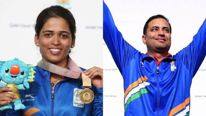 India's duo of Tejaswini Sawant and Sanjeev Rajput won the