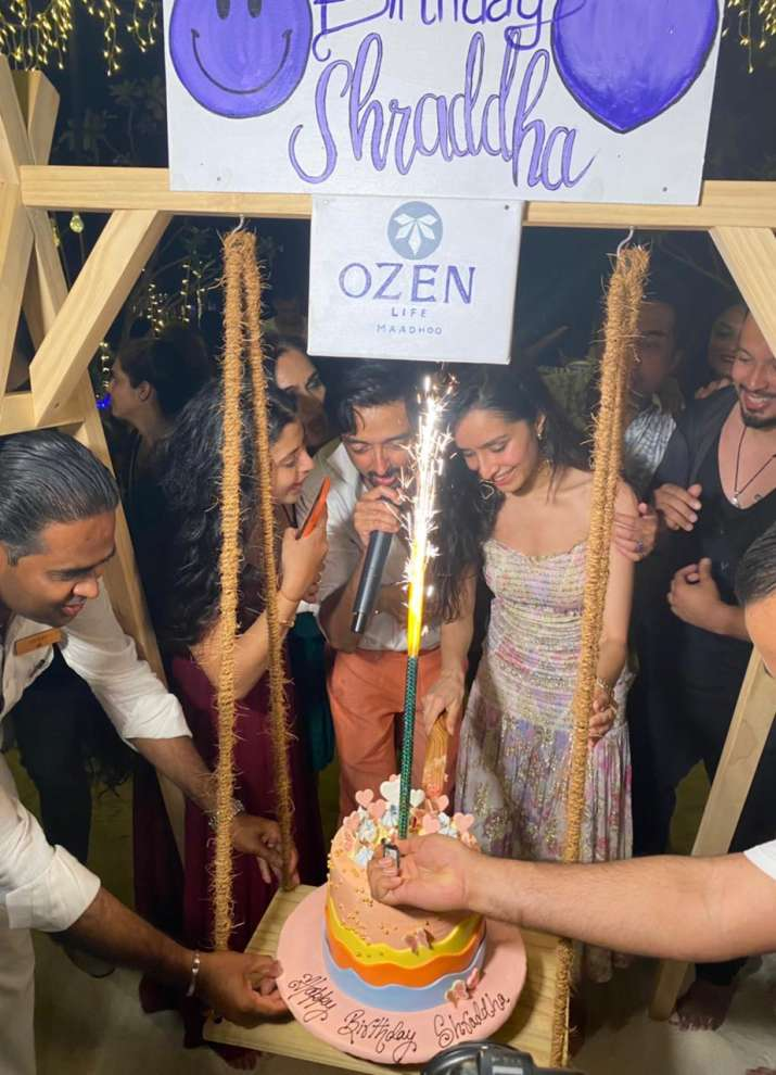 India Tv - Shraddha Kapoor celebrates birthday with rumoured beau Rohan Shrestha and her family in Maldives