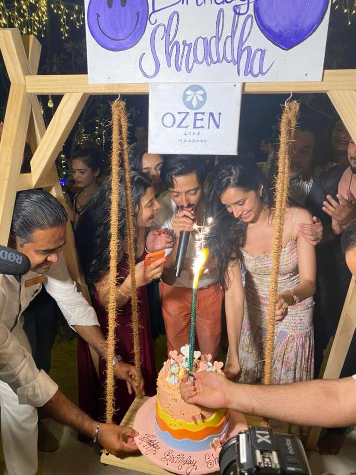 India Tv - Shraddha Kapoor celebrates birthday with rumoured beau Rohan Shrestha and her family in Maldives
