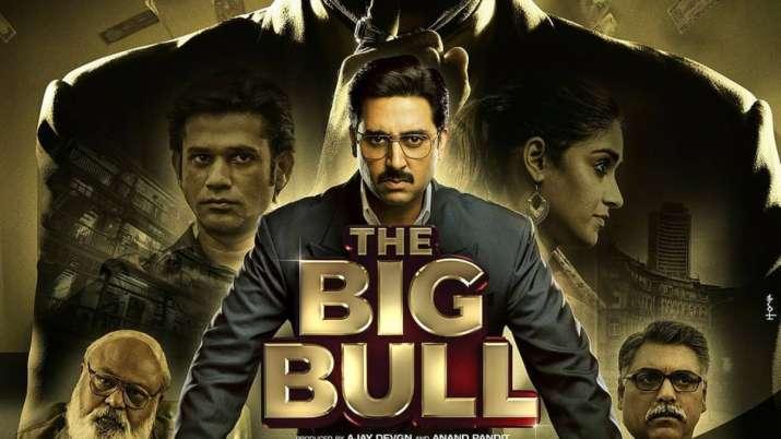 The Big Bull poster featuring Abhishek Bachchan