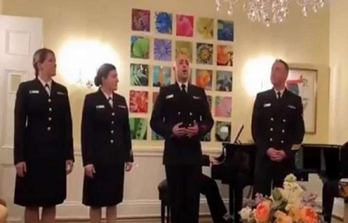US Navy members sing popular Hindi song, Indian envoy shares video