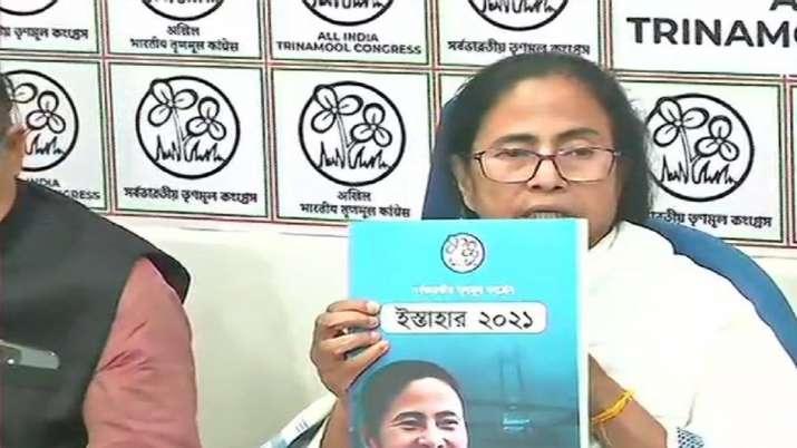 TMC manifesto released Mamata Banerjee promises jobs Bengal polls 2021 latest news