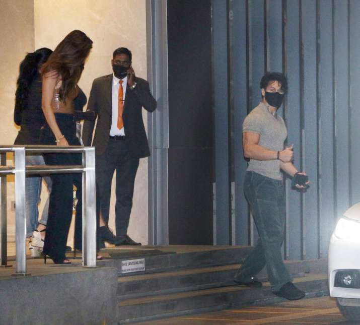 India Tv - Tiger Shroff spotted with Disha Patani a night before his birthday
