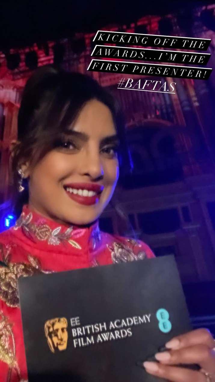 India Tv - Priyanka Chopra, Nick Jonas stir love in the air at BAFTA 2021 red carpet