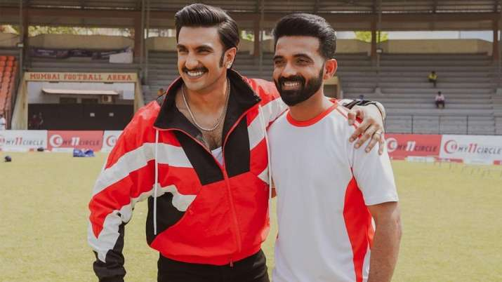 Ranveer Singh gives his best wishes to DC's Ajinkya Rahane for IPL 2021