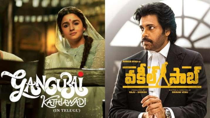 Posters of Gangubai Kathiawadi and Vakeel Saab