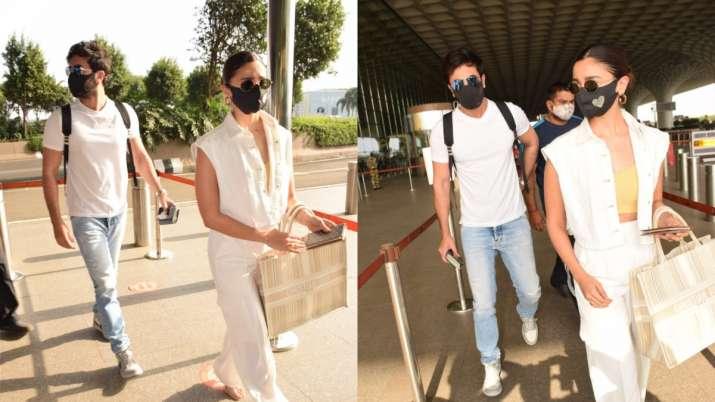 COVID recovered Alia Bhatt, Ranbir Kapoor head to Maldives for a beach vacation | PICS