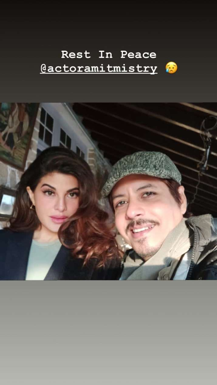 India Tv - Amit Mistry's Bhoot Police co-star Jacqueline Fernandez mourns actor's death
