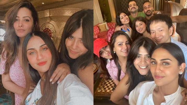 Anita Hassanandani with friends
