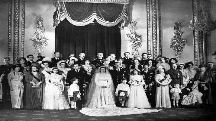 India Tv - This Nov. 20, 1947 file photo shows Britain's Princess Elizabeth and her husband, the Duke of Edinburgh, on their wedding day.