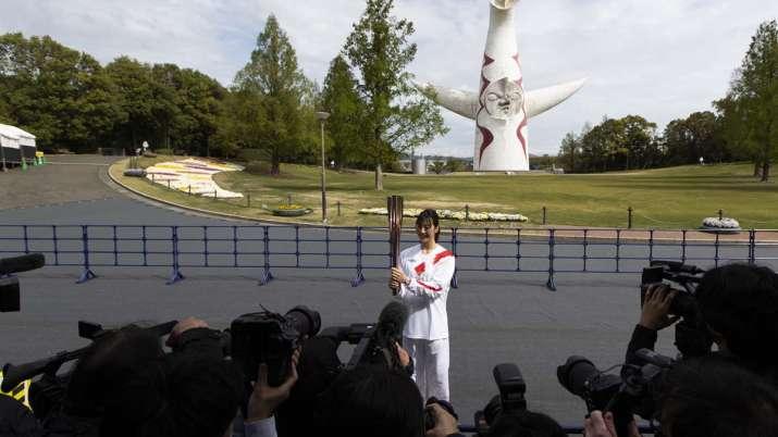 Former Olympian Aya Terakawa, participating as an Olympic