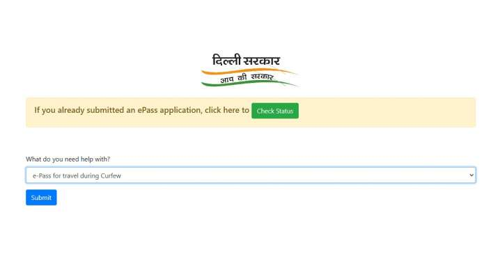 delhi, delhi curfew, delhi curfew pass, epass online