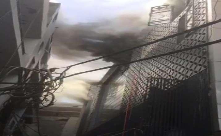 Delhi: Fire breaks out in factory near MTNL office in