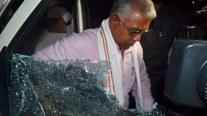 dilip ghosh car attack