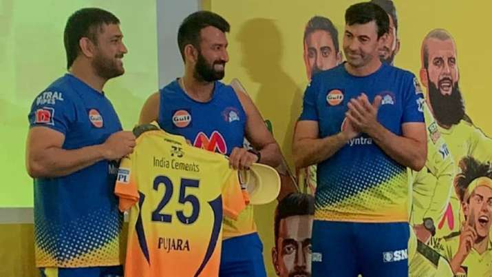 MS Dhoni, Cheteshwar Pujara and Stephen Fleming, IPL 2021, CSK, IPL 2021 CSK squad