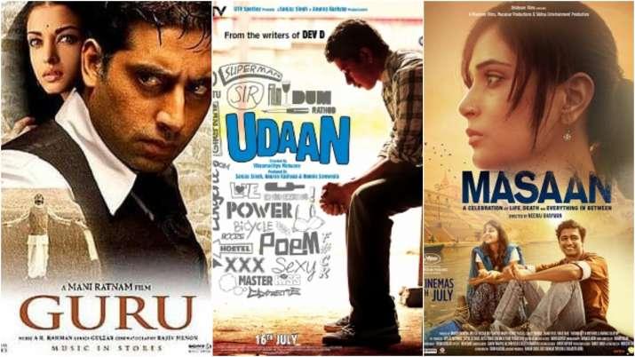 Posters of Guru, Udaan and Masaan