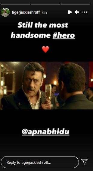 India Tv - Screengrab of Tiger Shroff's Instagram Story