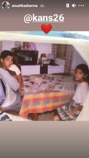 India Tv - Anushka Sharma shares childhood pic with brother Karnesh; he wonders, 'Why were we reading news?'