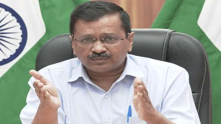 Delhi Chief Minister Arvind Kejriwal addresses a presser on