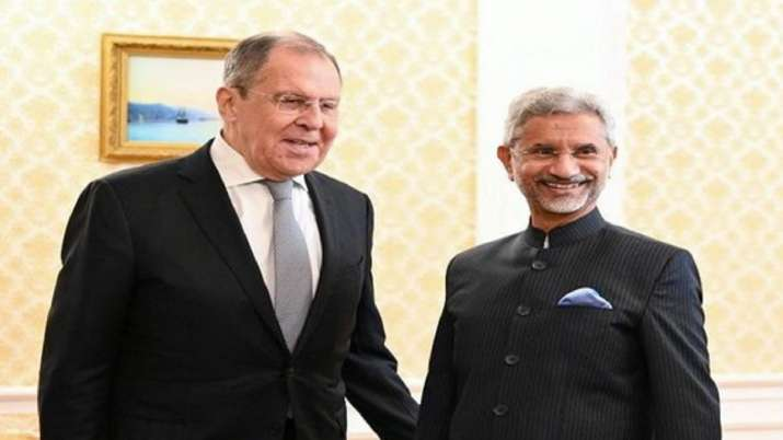 Russian foreign minister Sergei Lavrov and External Affairs Minister S Jaishankar