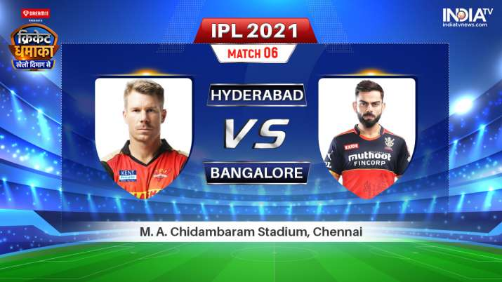 Live IPL 2021 Match SRH vs RCB: Watch Sunrisers Hyderabad vs Royal Challengers Bangalore Live Online